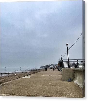 Hunstanton At 4pm Yesterday As The Canvas Print by John Edwards