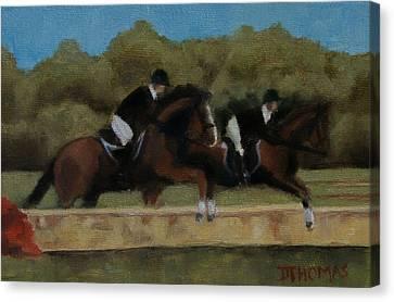 Hunt Scene Canvas Print by Donna Thomas