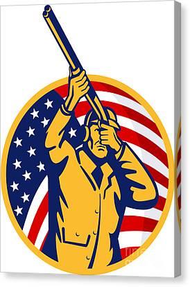 Hunter American Flag Canvas Print by Aloysius Patrimonio