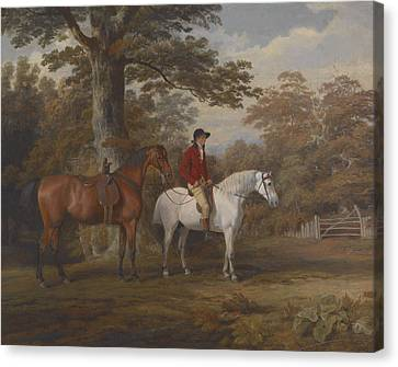 Hunter And Huntsman Canvas Print by George Gerrard