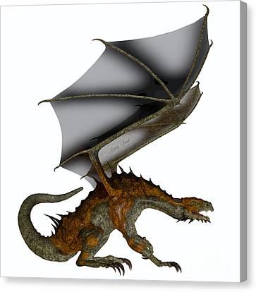 Hunter Dragon Profile Canvas Print