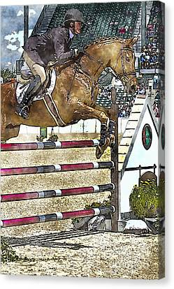 Hunter Jumper Equestrian Canvas Print by Carrie Cranwill