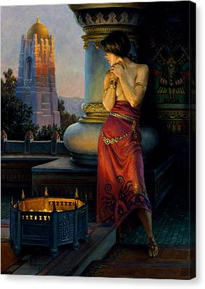 Rubaiyat Canvas Print - Hunter Of The East by Richard Hescox
