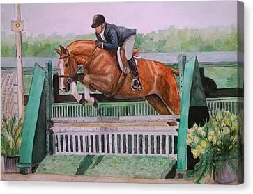 Hunter Over Fences #2 Canvas Print