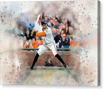Hunter Pence Canvas Print by Karl Knox