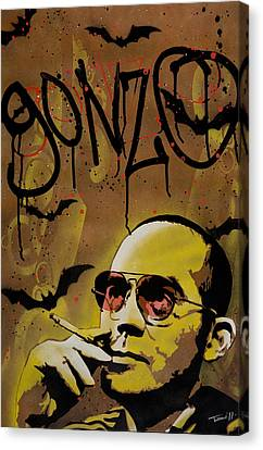 Hunter S. Thompson Canvas Print by Tai Taeoalii