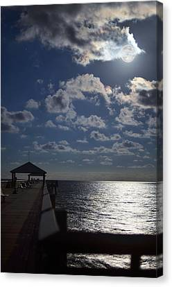 Canvas Print featuring the photograph Hunter's Moon by Laura Fasulo