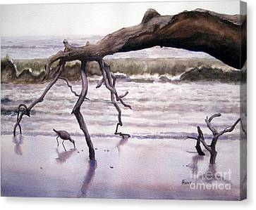Hunting Island Sculpture Canvas Print
