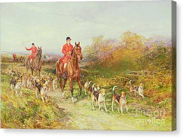 Autumn Scenes Canvas Print - Hunting Scene by Heywood Hardy