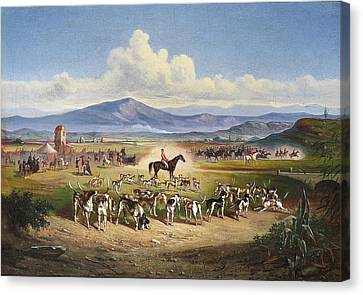 Hunting Scene In The Roman Canvas Print
