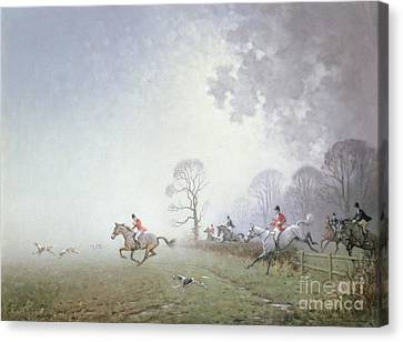 Hunting Scene Canvas Print by Ninetta Butterworth
