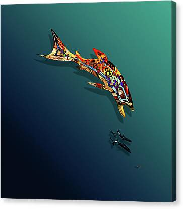 Hunting Trout Iv Canvas Print
