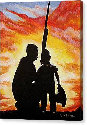 Hunting With My Dad Canvas Print by Al  Molina