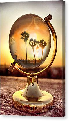 Huntington Beach Globe Canvas Print