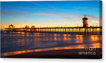 Huntington Beach Pier - Twilight Canvas Print