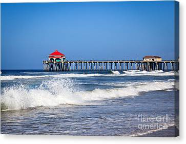 Huntington Beach Pier Photo Canvas Print by Paul Velgos