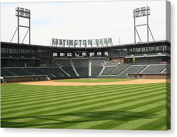 Huntington Park Baseball Field Canvas Print by Laurel Talabere