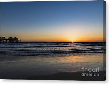 Canvas Print featuring the photograph Huntington Sunset by Anthony Baatz