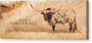 Hunt's Command Respect Canvas Print by Jerrywayne Anderson