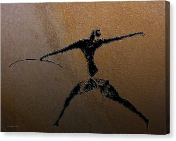Huntsman Of Lascaux V2 Canvas Print by Asok Mukhopadhyay