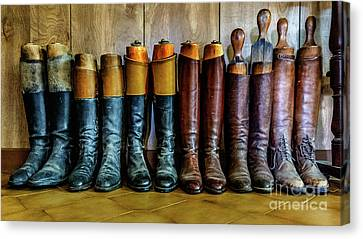 Huntsman's Boots Canvas Print by Heather Swan