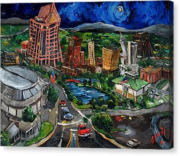 Huntsville Skyline Canvas Print by Carole Foret