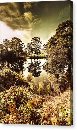 Lush Colors Canvas Print - Huonville River Reflections by Jorgo Photography - Wall Art Gallery