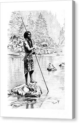 Hupa Fisherman Canvas Print by Toon De Zwart