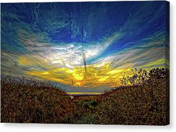 Huron Evening 2 Canvas Print by Steve Harrington