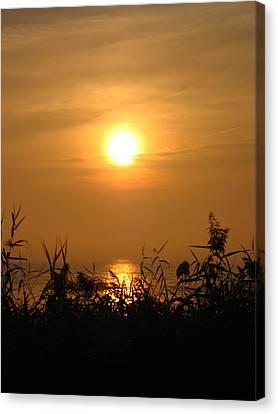 Huron Sunrise Canvas Print