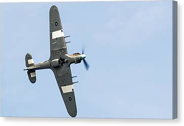 Canvas Print featuring the photograph Hurricane From Below Sunderland Air Show 2014 by Scott Lyons