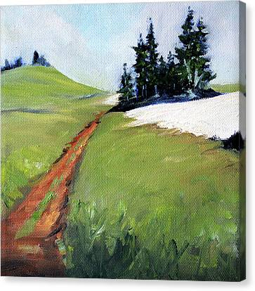 Canvas Print featuring the painting Hurricane Hill by Nancy Merkle