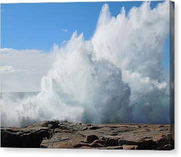 Hurricane Igor At Schoodic Point Maine Canvas Print