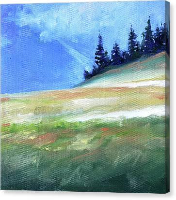 Canvas Print featuring the painting Hurricane Ridge by Nancy Merkle