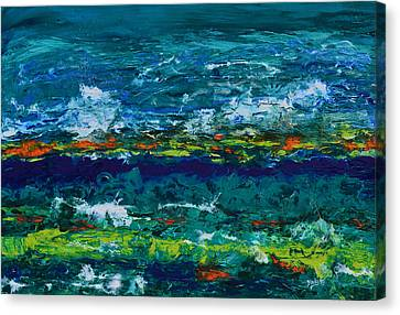 Abstract Seascape Canvas Print - Hurricane Season Begins by Donna Blackhall