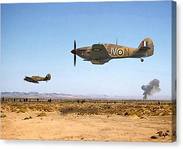 Buster Canvas Print - Hurricane - Tank Busters by Pat Speirs