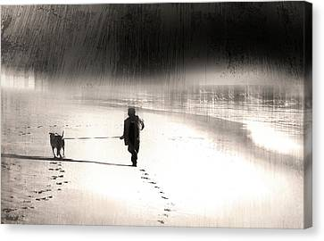 Canvas Print featuring the photograph Hurry Home by Gray  Artus