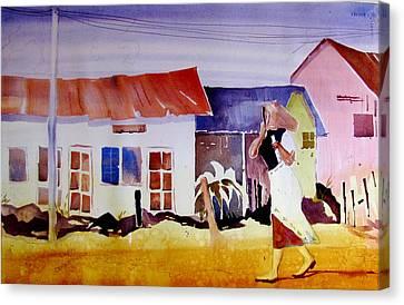 Hurrying In Tanzania Canvas Print