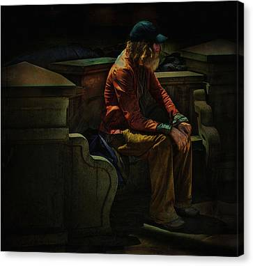 Hurting Inside No One To Talk To .... Canvas Print by Bob Kramer