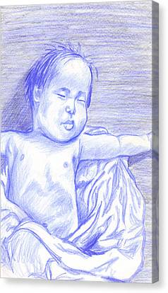 Hush Little Baby Canvas Print by Jean Haynes