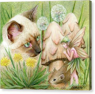 Hush Little Mouse Canvas Print by Karen Hull