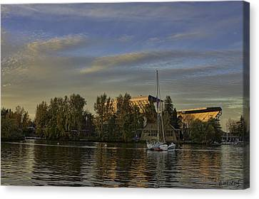 Husky Stadium Sunset Canvas Print