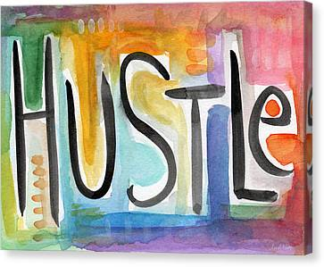Hustle- Art By Linda Woods Canvas Print