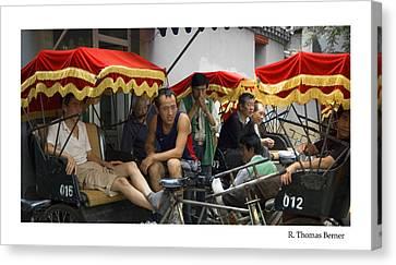 Hutong Tour Driveres Canvas Print