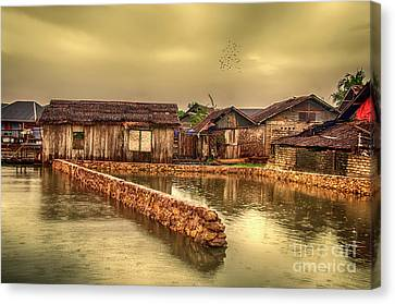Canvas Print featuring the photograph Huts 2 by Charuhas Images