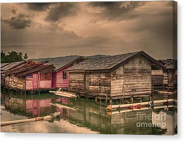 Canvas Print featuring the photograph Huts In South Sulawesi by Charuhas Images
