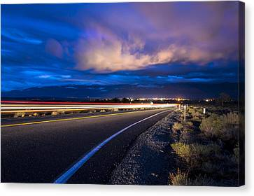 Hwy. 168 To Bishop, Ca Canvas Print by Cat Connor