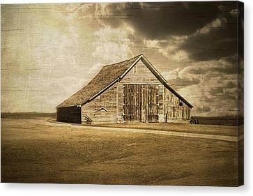 Hwy 9 Barn Canvas Print by Julie Hamilton