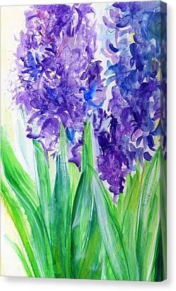 Hyacinths At Debbie's Canvas Print by Rosanne Licciardi