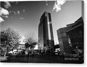 Hyatt Regency Hotel And Centenary Square Birmingham Uk Canvas Print